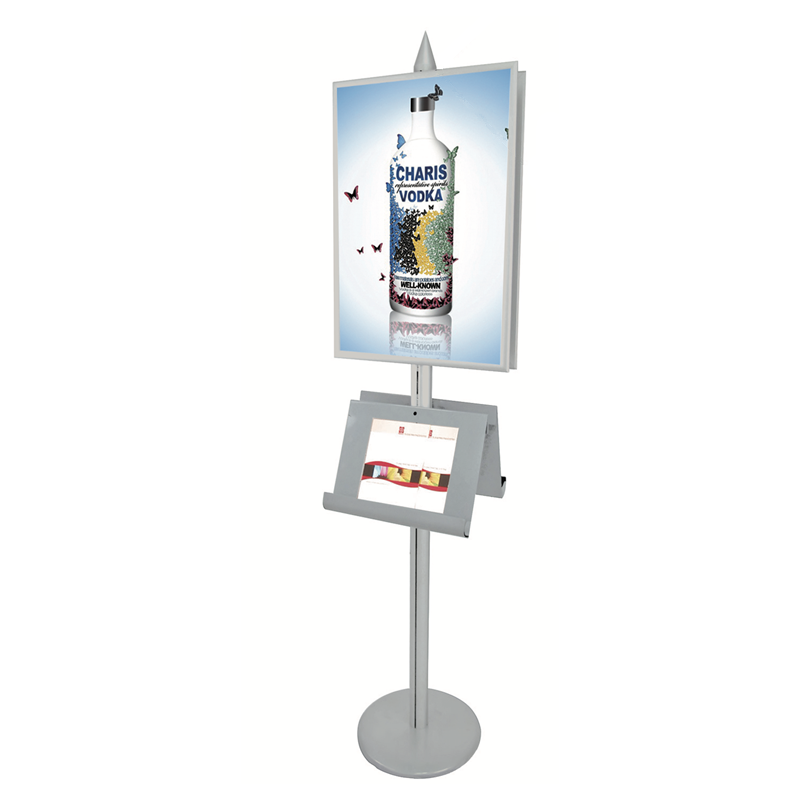 Promotion Poster Stand with Steel Racks E06P13