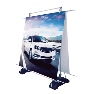 Double Outdoor Banner Rack E05B7-1
